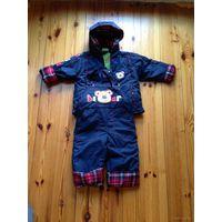 Куртка и комбинезон утепленный для мальчика 1-2 года НОВЫЙ в упаковке!