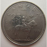 Канада 25 центов 1973 г. 100 лет конной полиции Канады (d)