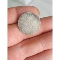 Старинная монета 6 грошей Шостак Пруссия в хорошем состоянии Оригинал Сереброне с рубля