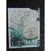 Латвия 2011г. Карта.