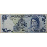 Каймановы острова 1 доллар 1974г. aU