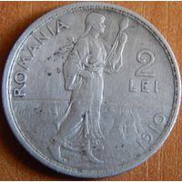 18. Румыния 2 леи 1910 год, серебро*