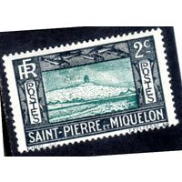 Сен-Пьер и Микелон. Ми-134.Клифф и Маяк. 1932.