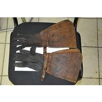 """Перчатки-краги """"Люфтваффе"""" из изумительной натур.кожи.30-е годы.Средний размер в музейном сохране."""