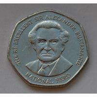 Ямайка 1 доллар, 2005 г. (Форма 7-угольник).