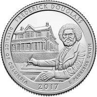США 25 центов 2017 37 парк Фредерик Дуглас Frederick Douglass D