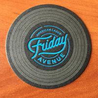 Подставка под пиво American Lager Friday Avenue No 2, диаметр 9 см