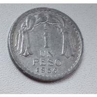 Чили 1 песо, 1956 6-1-14