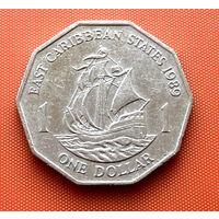 112-13 Восточные Карибы, 1 доллар 1989 г.