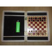 Шахматы СССР деревянные сувенирные компактные
