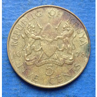 Кения 5 центов 1978
