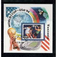Танзания /1994/ Спорт / Футбол / Кубок мира. США - 94 / Блок