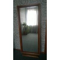 Зеркало СТАРОЕ без тумбы 1961г размер 130 х50 толщина 5мм