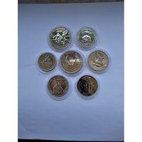 Монеты 1-2-5 лева 1980-81/82 год (Футбол..охота..ЭКСПО-80 ) unc