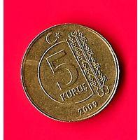 45-46 Турция, 5 куруш 2009 г.