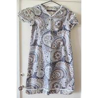 Платья летние с коротким рукавом, 46 размера, в хорошем состоянии, 60-70х г.