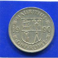 Маврикий 1 рупия 1990