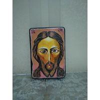 Икона Иисуса Христа, написана маслом