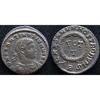 YS: Древний Рим, Константин I, медный фоллис 306-337 н.э., монетный двор Рима (RS)