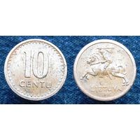 W: Литва 10 центов 1991 (25)