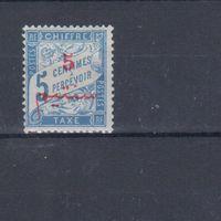 [917] Французские колонии. Марокко 1911. Доплатная марка.Надпечатка. МН.