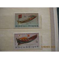 Португальская колония Мозамбик. Местные каравеллы. 1964г.