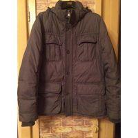 Стильная мужская куртка на 44-46 размер на зиму или холодную осень. Красивый серо-болотный цвет. Замеры: ПОгруди 55 см, длина 70 см, длина 70 см, длина рукава 63 см + около 4 см манжет.