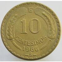Чили 10 сентесимо 1966 (308)