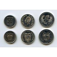 Эквадор НАБОР 3 монеты 1988 UNC