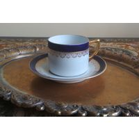 Чашка E. Haberlander & W. Eschenbach, 1913 - 29 г., Германия, Кофейная чайная пара, чашка + блюдце, тонкий костяной фарфор, кружка