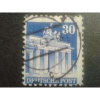 Германия 1948 Бизония L11 30 пф. Бранденбургские ворота