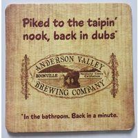 Подставка под пиво пивоварни Anderson Valley Brewing Company /США/
