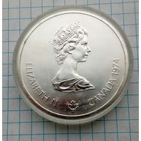 Канада 10долларов 1974г Летние Олимпийские Игры.Монреаль 1976г.Храм Зевса. Серебро 0,925