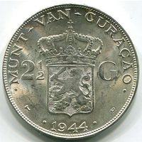 КЮРАСАО - 2-1/2 ГУЛЬДЕНА 1944