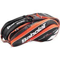 Теннисная сумка Babolat Pure Strike x6 fluo red Размеры: L75cm x H33cm x W45cm. Главный карман: до 6 ракеток. Внутренний карман: Дополнительные характеристики: Отдельный отсек для обуви, карманы для а