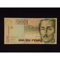 Колумбия, 2000 песо 2011 год, UNC