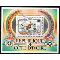 Спорт Кот-дИвуар 1989 год 1 блок