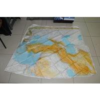 Огромная-см. линейку, аэронавигационная карта 1966 ГОДА! Тегеран-Александрия- Тель-Авив -Баку-Киев-Волгоград!