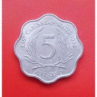 57-21 Восточные Карибы, 5 центов 1992 г.