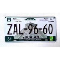 Номер автомобильный Mexico Yucatan