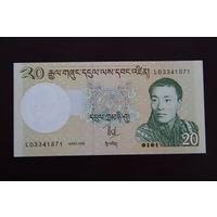 Бутан 20 нгултрум 2006 UNC