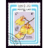 1 марка 1985 год Лаос Флора 834