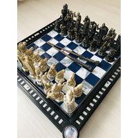 Шахматы Гарри Поттер . Полный набор. 2 палочки + мешочки+ журналы