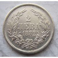 Болгария, 2 лева, 1882, серебро