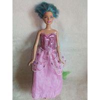 Mattel 29 см Голубые волосы короткая стрижка Барби кукла