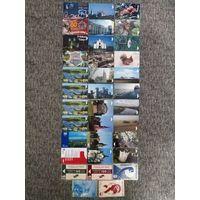 35 разных телефонных карт Беларуси Лот 1