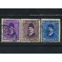 Египет Кор 1934 Фуад Стандарт #205-207