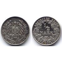 1/2 марки 1906 D, Германия, Мюнхен. Коллекционное состояние