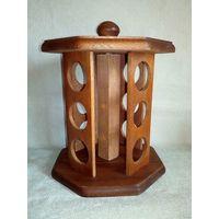 Подставка для 12 баночек для специй деревянная