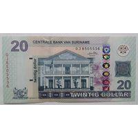 Суринам 20 долларов 2010 года UNC